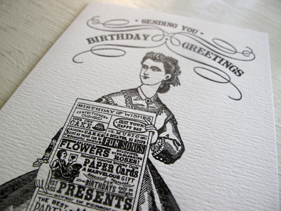 Paper Relics Letterpress Birthday Card